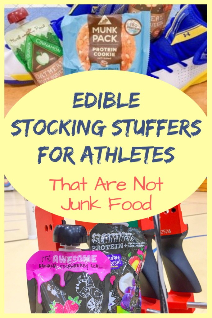 Edible Stocking Stuffers for Athletes That Are Not Junk Food - Check out our picks for healthier stocking stuffers for young athletes! #stockingstuffers #christmas #athletes #healthysnacks #protein #organic