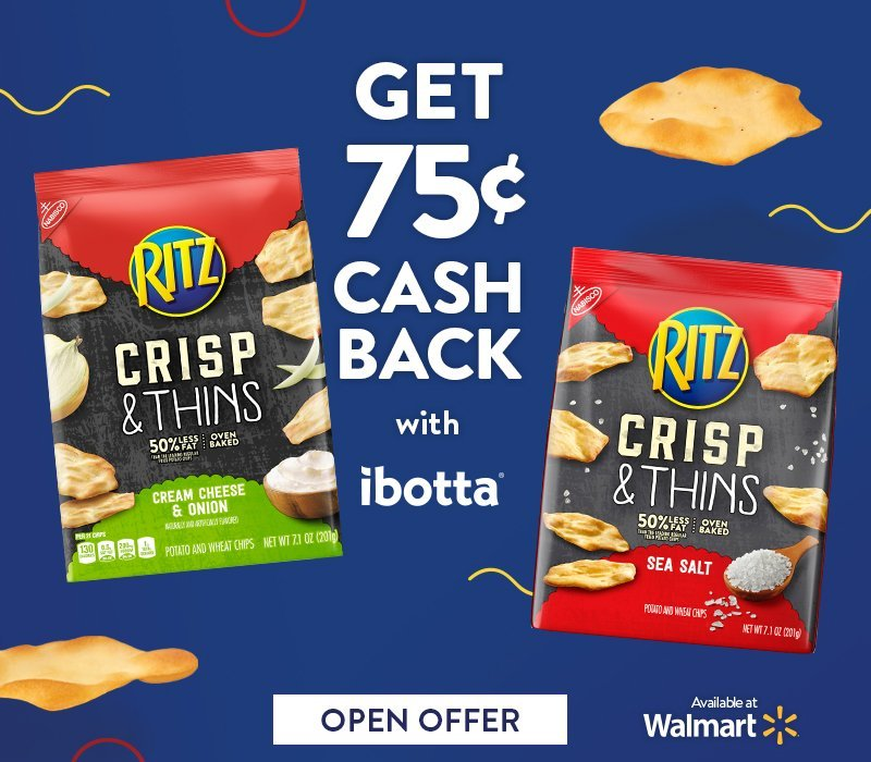 RITZ Crisp & Thins with ibotta offer - (ad) #RITZBlitz #IC