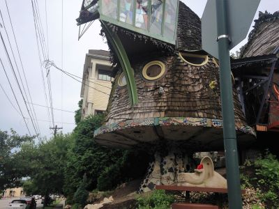 Mushroom House of Cincinnati, Ohio - Check out this quirky Hyde Park home shaped like a mushroom.