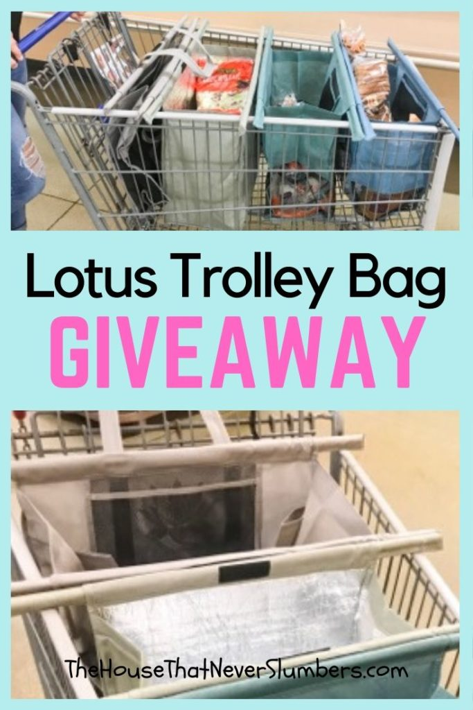 Lotus Trolley Reusable Shopping Cart Bag Giveaway