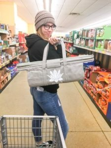 Lotus Trolley Reusable Shopping Cart Bag System in New Earth Tones