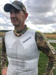 Heated Hunting Shirt over Thin Camo Long-Sleeve