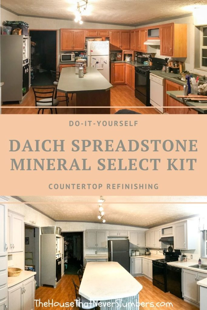 Daich SpreadStone Mineral Select Countertop Kit - before and after