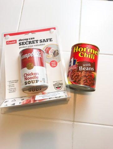 soup can hidden safe