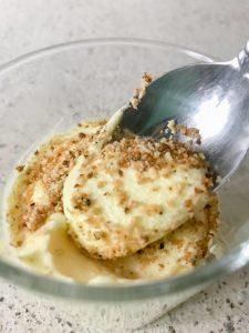 Keto Banana Pudding on a Spoon